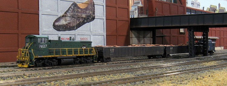 Conrail MP15 9627 On The Philladelphia NTRAK Morrisville Yard Modules