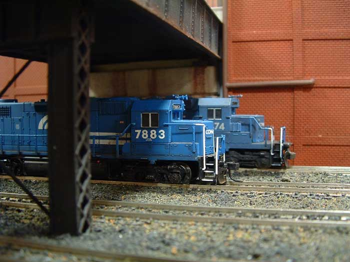 Conrail GP38 7883 on Philly NTRAK Layout