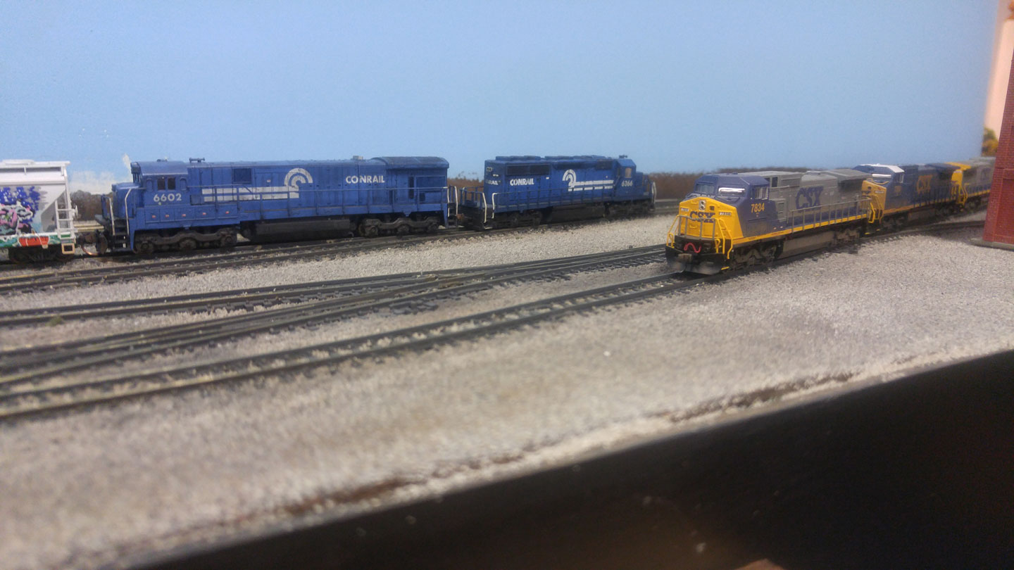 Detouring Conrail train passes through Hagerstown MD.